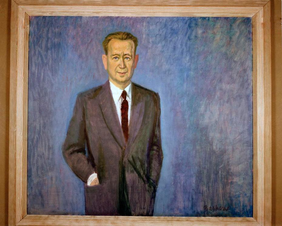 Portrait of Dag Hammarskjöld by Bo Beskow