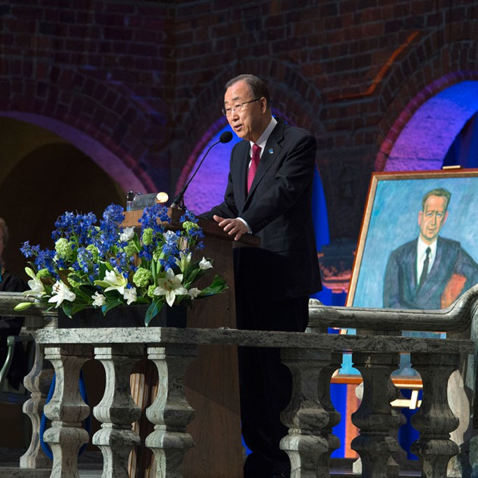 Secretary-General Ban Ki-moon delivers his Remarks at the Dag Hammarskjšld Lecture.